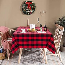 LinTimes Gingham Rectangular Tablecloth, Table