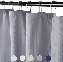 LinTimes Grey Shower Curtain, Spa Curtains Shower