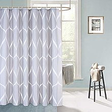 LinTimes Grey Shower Curtains, Waterproof Fabric