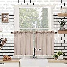 LinTimes Kitchen Curtain Tiers, Waffle Pattern