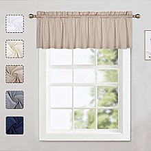 LinTimes Kitchen Curtain Valance, Cafe Curtains