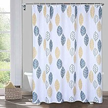 LinTimes Leaf Shower Curtain for Bathroom with 12
