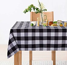 LinTimes Rectangle Checkered Tablecloth, Washable