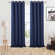 LinTimes Room Darkening Blackout Curtain, Set with