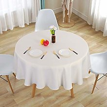 LinTimes Round Tablecloth 70 Inch Waterproof Table