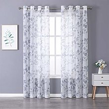 LinTimes Semi Transparent Sheer Curtains Voile