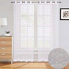 LinTimes Sheer Window Curtains, Linen Textured