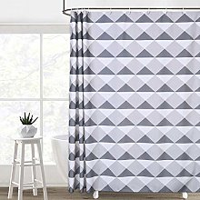 LinTimes Shower Curtain, Geometric Triangle