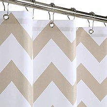 LinTimes Shower Curtain, Machine Washable Water