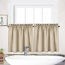 LinTimes Small Short Window Curtain for Bathroom