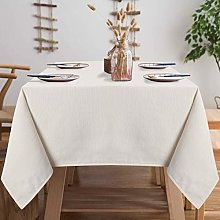 LinTimes Table Cloth Wipeable Square Tablecloth