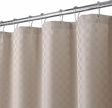LinTimes Taupe Shower Curtain, 190GSM Heavy Duty