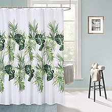 LinTimes Tropical Palm Leaves Shower Curtain,