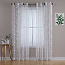LinTimes Voile Curtain Semi-Transparent Eyelet