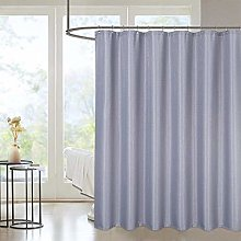 LinTimes Waffle Weave Extra Long Grey Shower