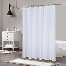 LinTimes White Shower Curtain, 190GSM Heavy Duty