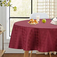 LinTimes Wipe Clean Plaid Christmas Tablecloth