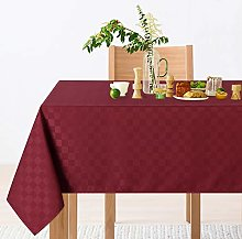 LinTimes Wipe Clean Plaid Tablecloth Round Square
