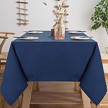 LinTimes Wipe Clean Tablecloth Large Table Cloths