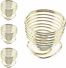 LINVINC Metal Egg Cups - Spiral Spring Rose Gold