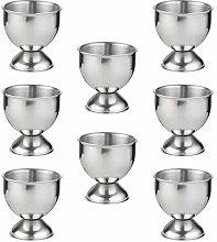 LINVINC Stainless Steel Egg Cups Set - Eggs Hard