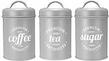 LINWX 3Pcs/set Storage Box Tea Sugar Coffee