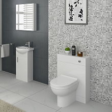 Linx Vanity Basin Cabinet & Back To Wall WC Toilet