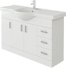 Linx Vanity Basin Cabinet Storage Unit Gloss White