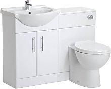 Linx Vanity Bathroom Furniture Set WC Toilet Unit Pan Cistern - 1050mm - Veebath