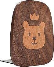 Lion baby Bookends for Kids, Wooden Book Ends for