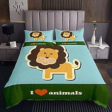 Lion Bedspread Boys Girls Cute Wild Animal
