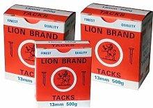 Lion Brand Fine Blued Cut Upholstery Tacks 500g