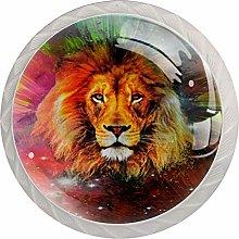Lion Cabinet Door Knobs Handles Pulls Cupboard
