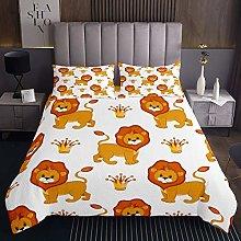 Lion Coverlet Set Wild Animal Bedspread for Boys