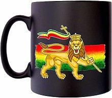 Lion of Judah Rastafari Flag Jewish Klassek Mug