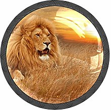 Lion Sunset Knobs and Pull Handle for Dresser