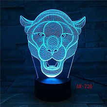 Lion Table Lamp 7 Color Change Animal Table Lamp