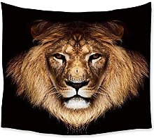 Lion Tapestry Wall Hanging Wild Animal Printed