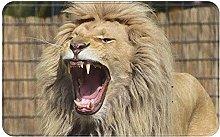 Lion Welcome Door Mat Indoor Outdoor Entrance Rug