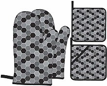 Lionel Philip Oven Mitts and Pot Holders 4pcs