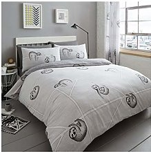 Lions 5 Piece Complete Bedding Set, Sloth Grey
