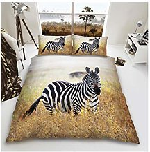 Lions Animal Print Bedding Set, 3D Duvet Quilt