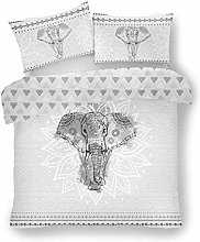 Lions Ebony Grey Duvet Quilt Cover & Pillow Case