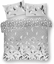 Lions Feathers Grey Duvet Cover Set with