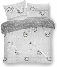Lions Grey Bedding Kingsize Duvet Cover Sets with