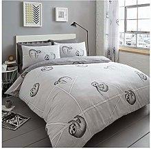 Lions Kingsize Duvet Cover Sets, Grey Bedding