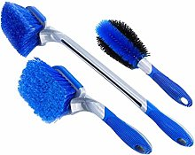 LIOOBO 3 Pcs Tyre Brushes Kit Blue Wheel Hub