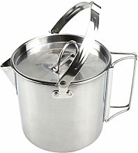LIOOBO Camping Kettle Stainless Steel Outdoor