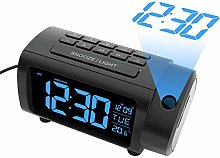LIORQUE Projection Alarm Clock, Alarm Clocks with