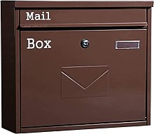 LIOYUHGTFY Letterbox Mailbox Rust Weather Proof